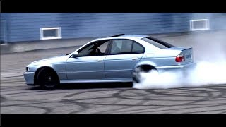 BMW M5 E39 V8 Burnout Drift Compilation Brachial V8 Sound