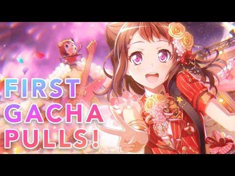 FIRST GACHA PULLS! (5,000 Stars) // BanG Dream! Girls Band Party (Bandori)