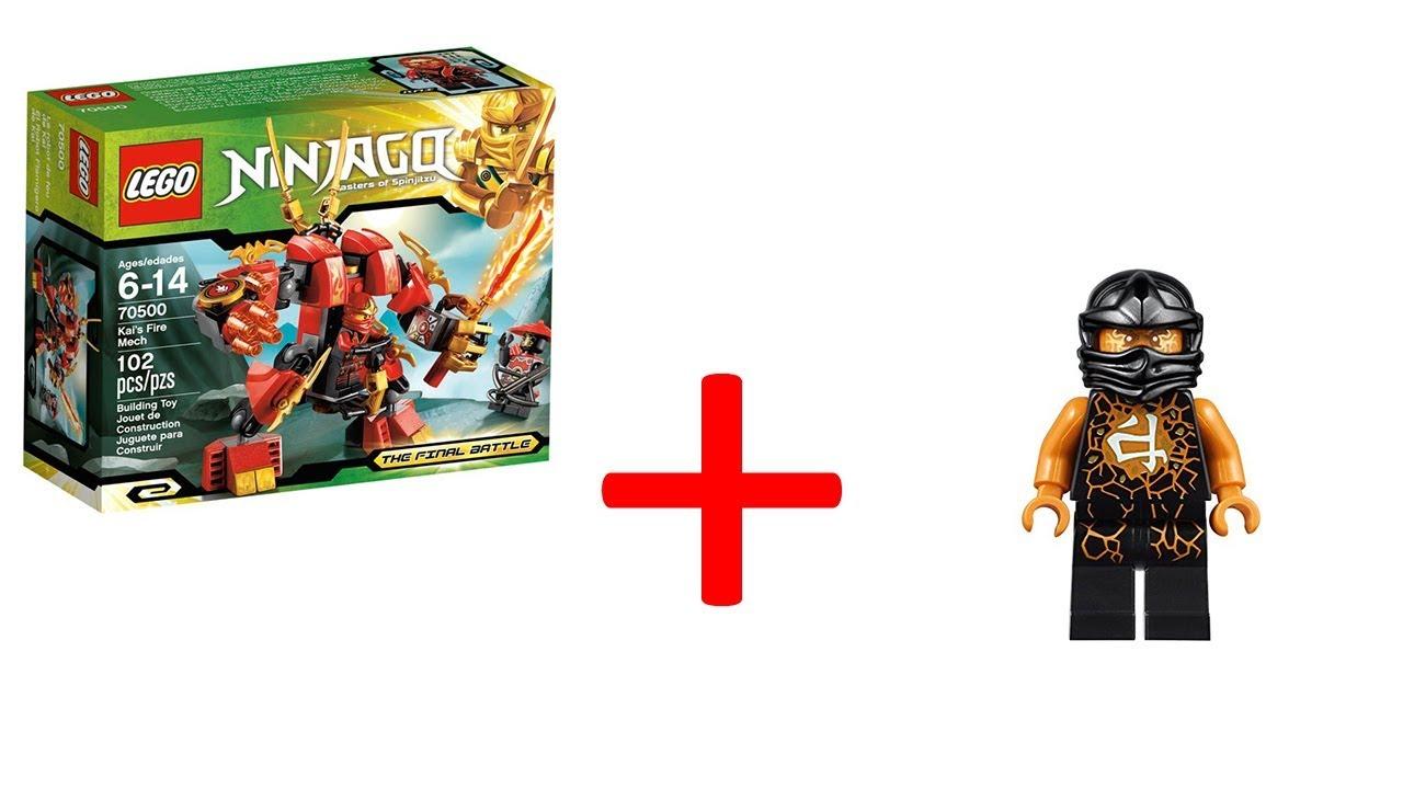 ЛЕГО Ниндзяго Огненный робот Кая и Коул - YouTube