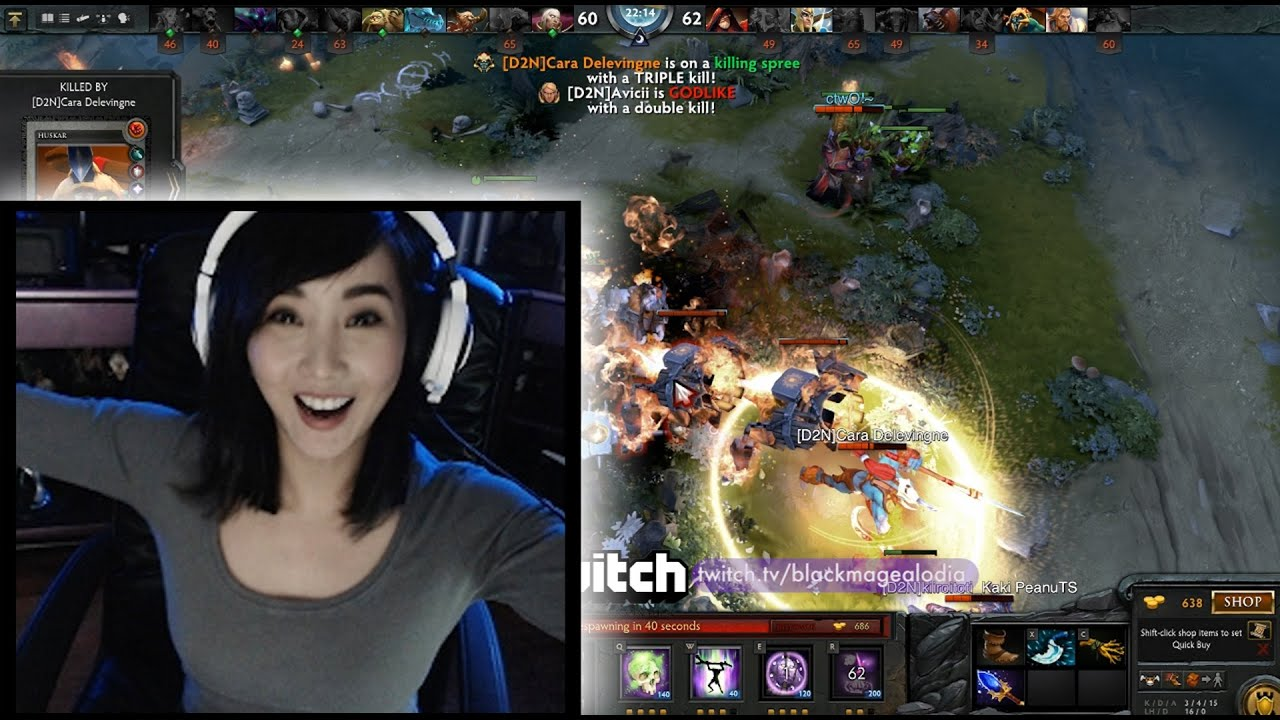 dota2 livestream highlights alodia youtube