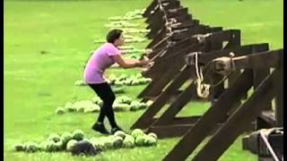 Epic Melon Catapult Fail