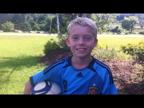 Soccer  trick shots by 8 year old part 2