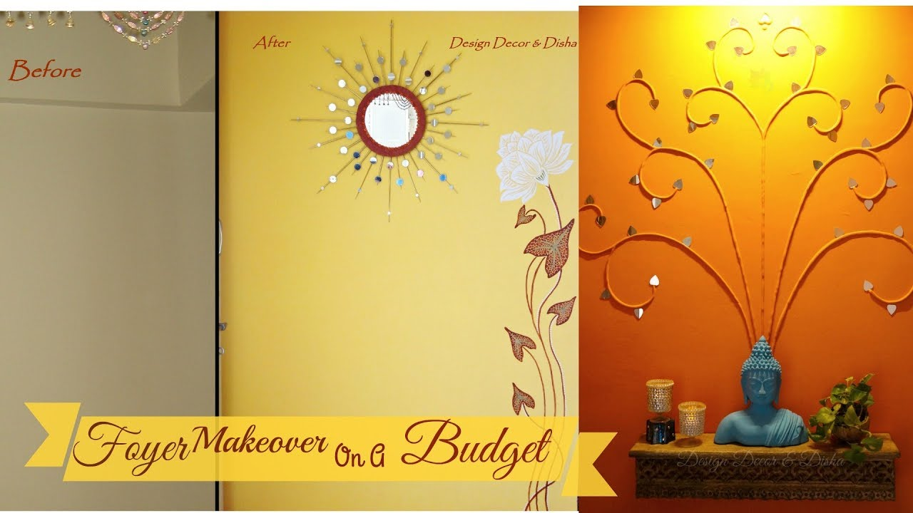 Foyer Makeover On A Budget - YouTube