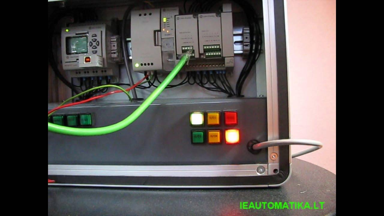 Allen Bradley Micro 830 Plc Simple Traffic Lights Program