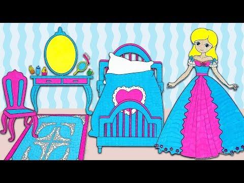 Paper Doll In Her Princess Bedroom 👸