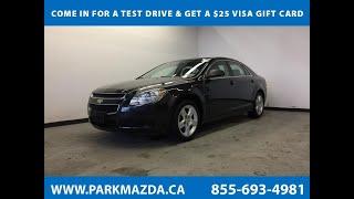 BLACK 2012 Chevrolet Malibu  Review Sherwood Park Alberta - Park Mazda