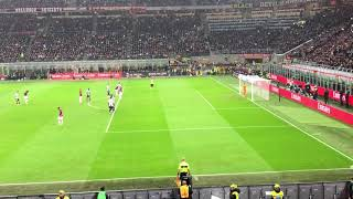 Higuain missed penalty from the stands|MILAN 0-2 JUVENTUS