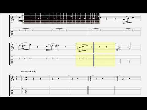 Children Of Bodom   Red Light In My Eyes Part 2 GUITAR 1 TAB