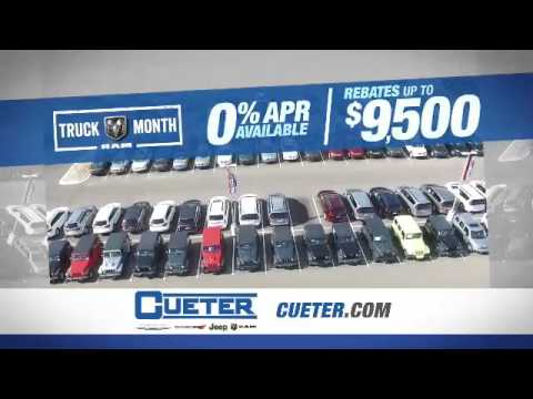 Truck Month Rebates Up To $9500 At Cueter Chrysler Jeep Dodge Ram