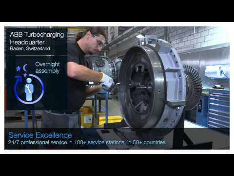 See ABB Turbocharging service excellence in action