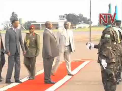 Museveni tours Rwanda Genocide Park