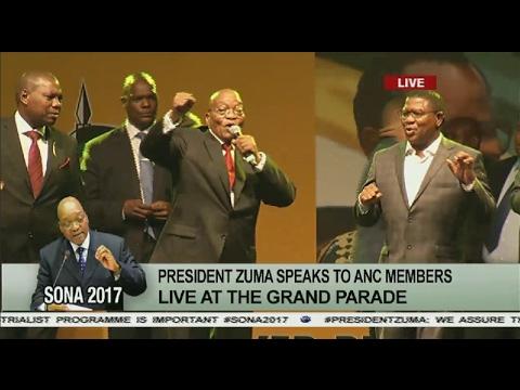 President Jacob Zuma addresses ANC members at Grand Parade