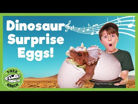 dinosaur-surprise-egg-song!-t-rex-ranch!-giant-t-rex-&-more-dinosaurs!-songs-for-kids!