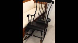 Antique Swedish Black Rocking Chair 2 For Sale Www.swedishinteriordesign.co.uk
