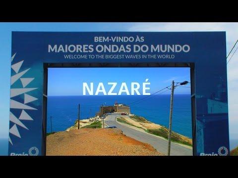 NAZARE: Praia do Norte + Farol + Paisagem - Videos Portugal Travel