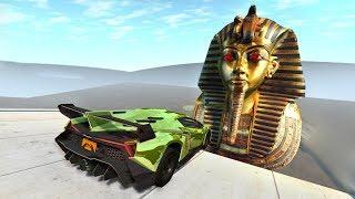 Beamng drive - Open Bridge Crashes over Giant Pharaoh Mask