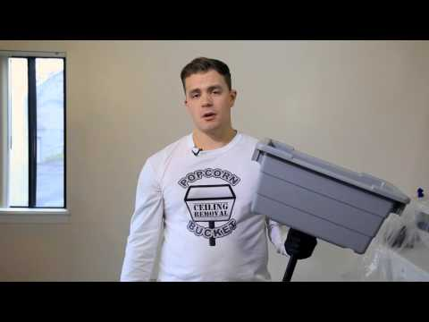 how-to-remove-a-popcorn-ceiling-using-a-popcorn-ceiling-removal-bucket---diy-product-demonstration
