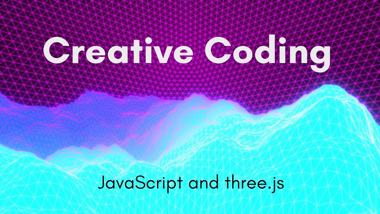 Creative Coding Time Lapse | Neon Mountains | Javascript, three.js