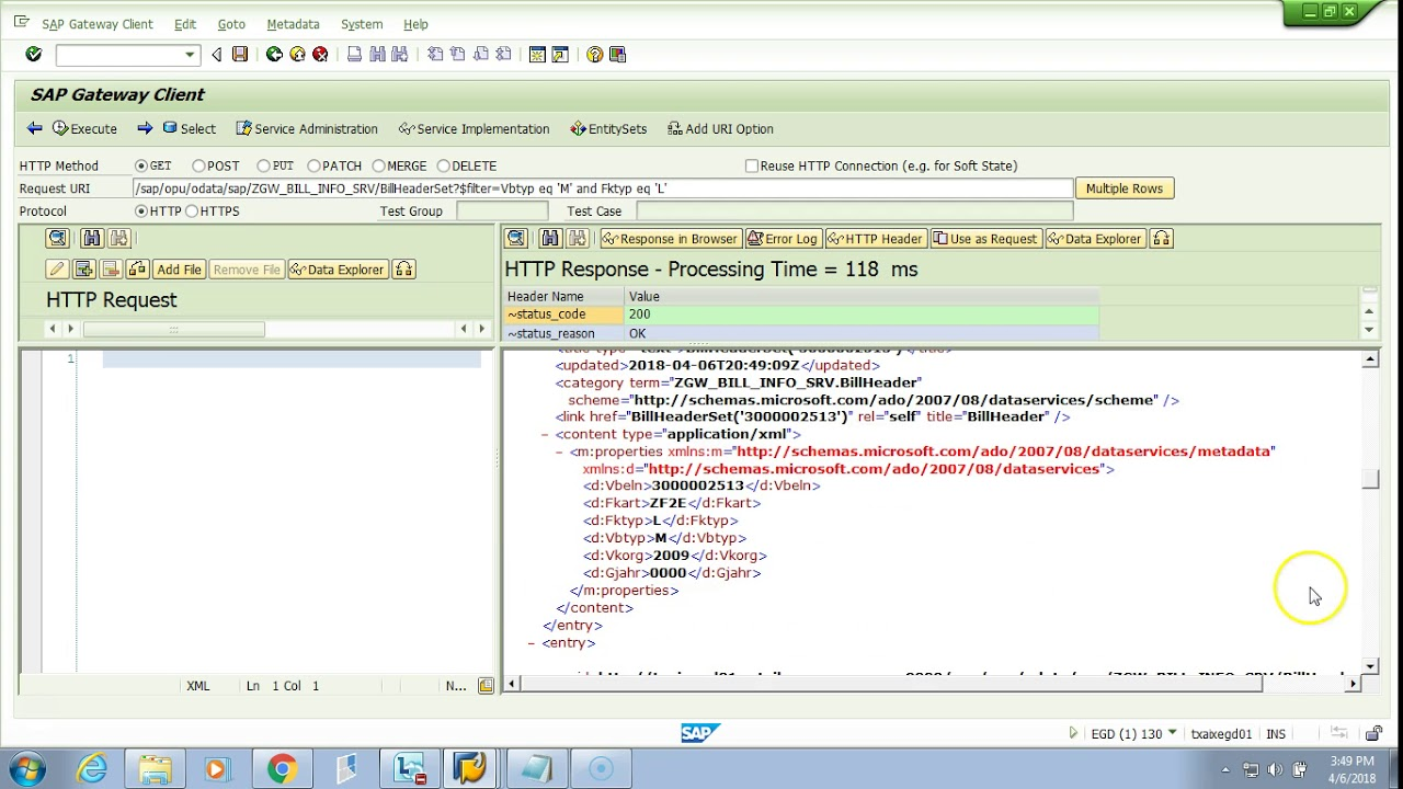 OData & SAP Netweaver Gateway - 022 Step 9 Test Multiple Filters in URI