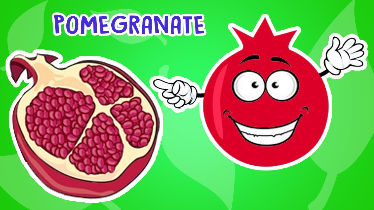 Pomegranate Fruit Song | English Fruit Rhymes Cartoon For ...