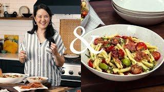 Ann Makes Warm, Garlicky Puttanesca Pasta Salad | F&W Cooks