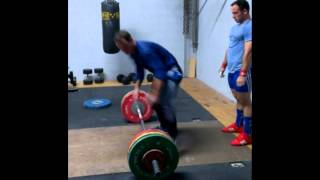160kg clean and jerk / 125kg x 2 snatch @77kg