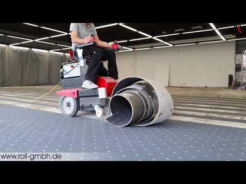 2 Lagen Teppichboden Entfernen Mit Dem ROLL Aufsitzstripper RO-1.1