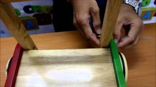 Xe tập đi gỗ cho bé A+ - Hướng dẫn lắp đặt xe tập đi gỗ cho bé - Aplaza.vn