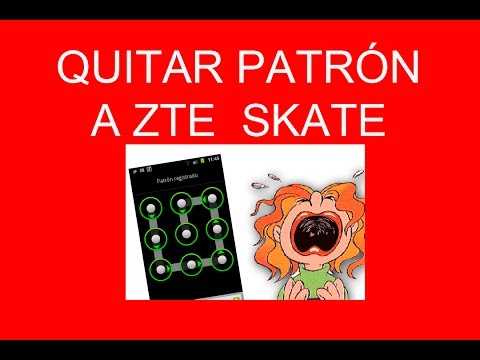 "Quitar patron olvidado a Zte Skate ""monte carlo"""