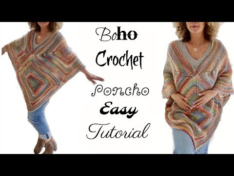 Fall Boho Crochet Poncho 2017
