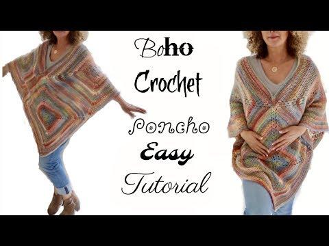 Fall Boho Crochet Poncho 2017
