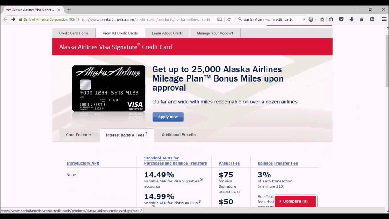 Alaska Airlines Visa Signature Credit Card Youtube