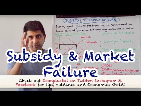 Y1/IB 29) Subsidy and Market Failure