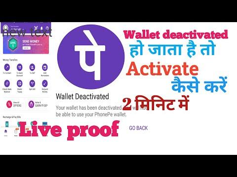 PhonePe Wallet deactivated हो जाने पर Wallet Activate कैसे करें 2 मिनट में