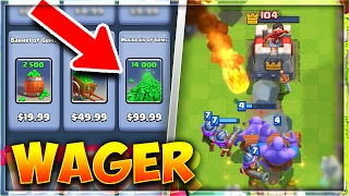 """INSANE """"Clash Royale"""" MONEY WAGER BATTLE! (WHO WILL WIN!?)"""