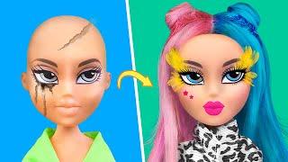 Макияж и прически для старых кукол Барби 6 идей
