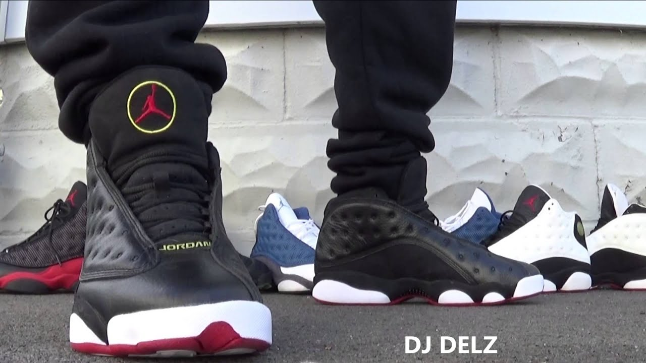 fef265e1ee0 Air Jordan Playoff 13 XIII Shoe On Foot With  DjDelz - YouTube