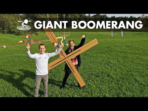Can a Giant DIY Boomerang Fly?