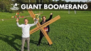 Giant DIY Boomerang - Will it Fly?
