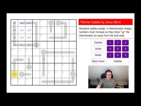 Thermo Sudoku With NO Given Digits - Have A Go!