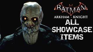 Batman Arkham Knight All NON DLC Unlockable Showcase Items SKINS BATMOBILES CHARACTERS VEHICLES