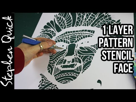 pattern-stencil-cutting---stencil-art-by-stephen-quick-//-princess-mononoke