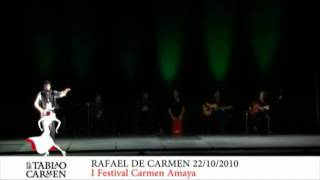 Actuacíón de Rafael de Carmen en el I Festival de flamenco Carmen Amaya