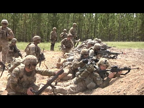 U.S. Army 82nd Airborne Division Live Fire Exercise