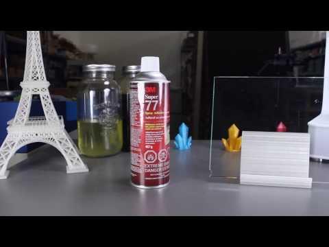 Bed Adhesion with 3m's Super 77 Multi-Purpose Adhesive Spray