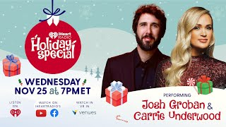 iHeartRadio Holiday Special Featuring Carrie Underwood & Josh Groban, Hosted By Mario Lopez!