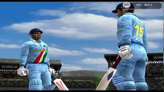 EA Cricket 2005 Ind vs Sri 50 Over Match 200 Runs Patnership by Ganguly and Gambhir