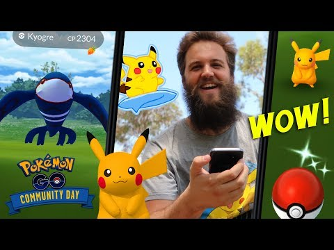 THIS EVENT PUSHED ME TO THE LIMIT! (SHINY SURF PIKACHU COMMUNITY EVENT) - POKEMON GO