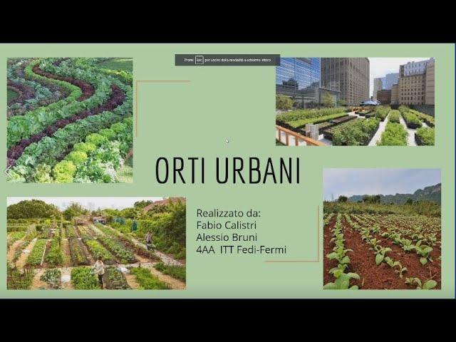 Gli orti urbani