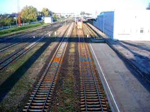 Passenger Train Arrives at Šiauliai Railway Station